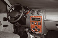 Decor interiéru Dacia Logan -- od roku výroby 4/2005- umístění palubní deska a středová konzola - 4 díly